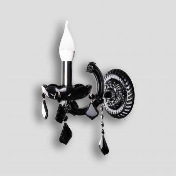Скляна бра-свічка на 1 лампочку P13-3210/1W/BK