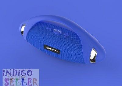 Мощная портативная влагозащищенная bluetooth колонка Hopestar H37 с FM Радио Stereo голубая