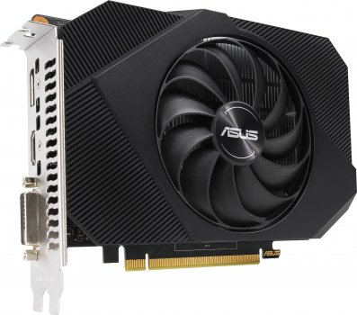 Asus PCI-Ex GeForce GTX 1650 Phoenix OC 4GB GDDR6 (128bit) (1665/12000) (DVI-D, HDMI, DisplayPort) (PH-GTX1650-O4GD6-P)