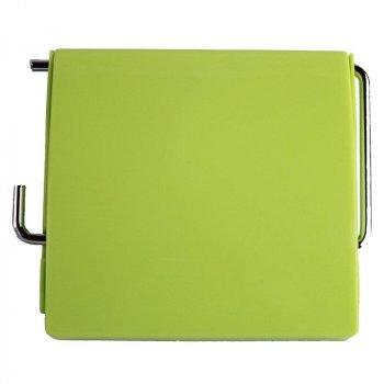 Тримач для туалетного паперу Bathlux Green Leaves 50306 гачком настінний закритий з кришкою пластиковий (F_132595)