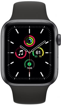 Смарт-годинник Apple Watch SE GPS 44mm Space Grey Aluminium Case with Black Sport Band (MYDT2UL/A)