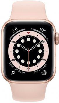 Смарт-годинник Apple Watch Series 6 GPS 40mm Gold Aluminium Case with Pink Sand Sport Band (MG123UL/A)
