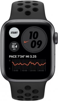 Смарт-часы Apple Watch Series 6 Nike GPS 40mm Space Gray Aluminum Case with Anthracite/Black Nike Sport Band (M00X3UL/A)
