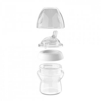 Бутылочка для кормления Chicco Natural Feeling 0м+ 250 мл стеклянная (80623.00)