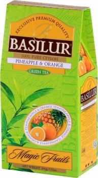 """Чай зеленый Basilur Магические фрукты """"Ананас и апельсин"""" 100 г (4792252933477)"""