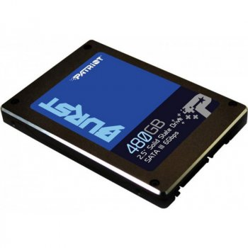 "Накопичувач SSD 480GB Patriot Burst 2.5"" SATAIII 3D TLC (PBU480GS25SSDR)"