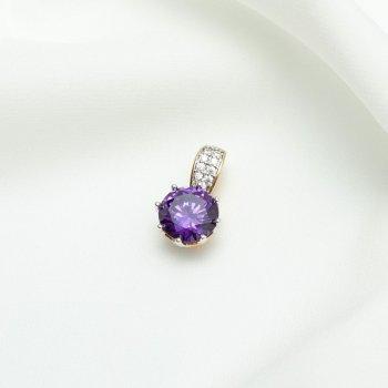 Кулон с фиолетовым камнем 181 3600/4