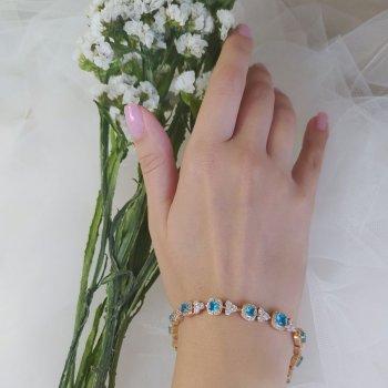 Браслет вечерний с голубыми камнями 25 2114 R13100 (2)