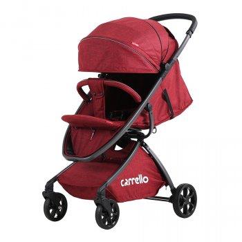 Коляска прогулочная CARRELLO Magia CRL-10401 Красная алюмин рама, резиновые колеса