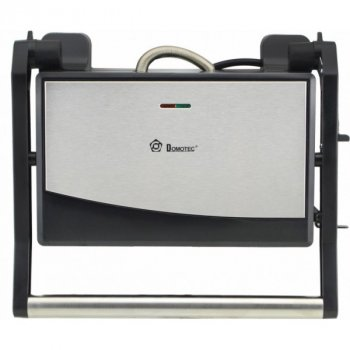 Гриль контактний Domotec MS 7708 1000W З антипригарним покриттям Чорний