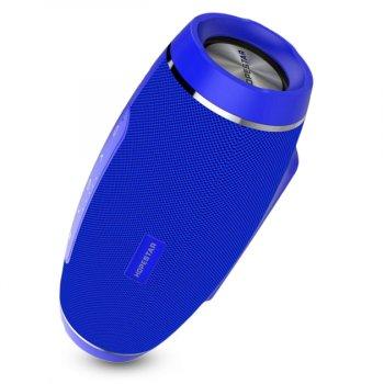 Портативна блютуз колонка Hopestar H27 SPEAKER Синя 10 ВТ бездротова з флешкою радіо і стерео звуком Bluetooth 4.1 підсвічування USB (46998 I)