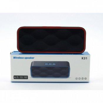 Портативна блютуз колонка Wireless Speaker K31 Oll Dev бездротова 5 ВТ з флешкою радіо та слотом для карти Bluetooth 2.1 зарядка USB (44965 I)
