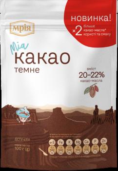 Упаковка кондитерского ингредиента Мрія Какао-порошок 100 г х 22 шт (4820154833653)