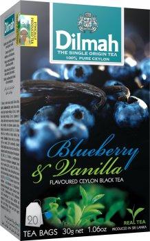 Чай черный пакетированный Dilmah Голубика и ваниль 1.5 г х 20 шт (9312631142068)