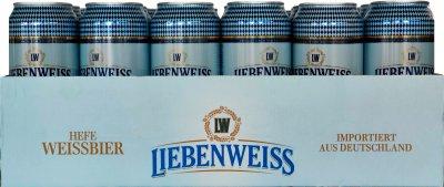 Упаковка пива Liebenweiss Hefe-Weissbier светлое не фильтрованное 5.1% 0.5 л х 24 шт (4071600054119)