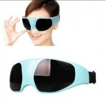 Массажер для глаз Eye Massager с силликоновыми пальчиками 190 х 65 мм Черно-голубой