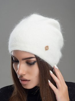 Женская Шапка Leks-Jolie Престиж Размер (53-57) Цвет (белый)