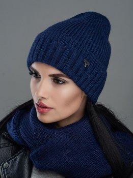 Женская Шапка Leks-Jolie Рубин комплект Размер (53-57) Цвет (синий)