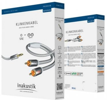 Кабель Inakustik Premium 3.5 mm Mini Jack > 2 x RCA 3.0 м (410003)