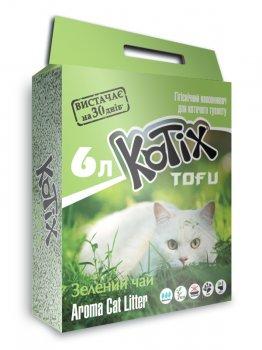 Наполнитель для кошачьего туалета Kotix Тофу Green tea Соевый комкующий 2.55 кг (6 л) (6972345440039)