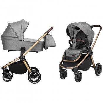 Коляска универсальная 2 в 1 Carrello Epica CRL-8510 Silver Grey + дождевик + чехол на ножки и сумка