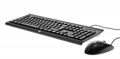Комплект (клавіатура + мишка) HP Wired Combo C2500 Чорний (H3C53AA)