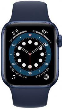 Смарт-годинник Apple Watch Series 6 GPS 40mm Blue Aluminium Case with Deep Navy Sport Band (MG143UL/A)