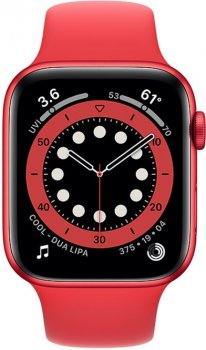 Смарт-часы Apple Watch Series 6 GPS 44mm (PRODUCT) Red Aluminium Case with Red Sport Band (M00M3UL/A)