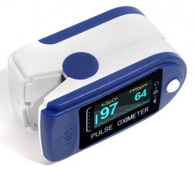 Пульсометр оксиметр напальченый (пульсоксиметр) Promise RZ50D Blue
