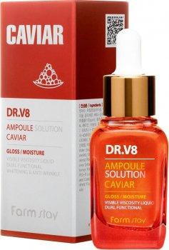 Сыворотка для лица FarmStay DR.V8 Ampoule Solution Caviar Антивозрастная с экстрактом икры 30 мл (8809595051983)