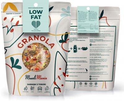 Низкокалорийные мюсли Muesli Mania Low Fat 350 г (4820220140289)