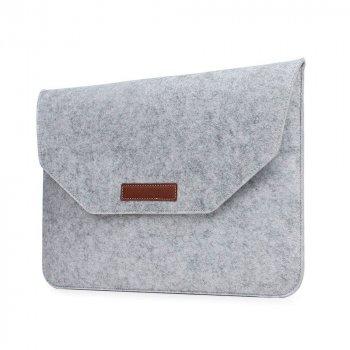 Папка конверт Dux Ducis Felt Sleeve bag для MacBook Pro 15.4″ White (BAG-0006)