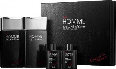 Набор косметики для мужчин Konad Iloje Flobu Homme Basic Kit 2 Set Тонер + Эмульсия 140 + 30 + 140 + 30 мл (8809109832558)