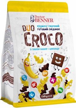 Упаковка готовых завтраков Doctor Benner Крокодилы Duo 150 г х 4 шт (20132581217)