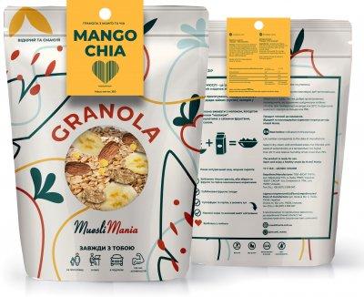 Гранола с манго и чиа Muesli Mania Mango Chia Granola 350 г (4820220140241)