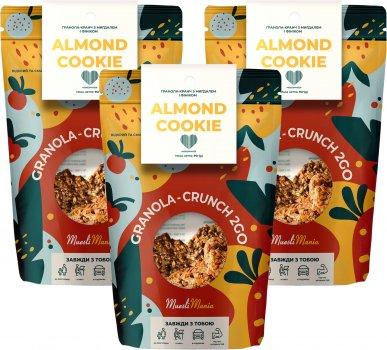 Упаковка гранолы-кранч с миндалем и фиником Muesli Mania Almond Cookie 90 г х 3 шт (4820220140326)