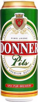 Упаковка пива Donner Pils светлое фильтрованное 3.5% 0.5 л х 24 шт (5900535001488G)
