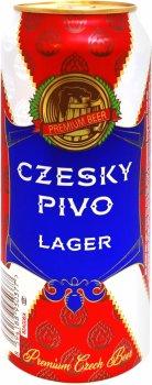 Упаковка пива Czesky Pivo Lager светлое фильтрованное 4.6% 0.5 л х 24 шт (8594188950377G)