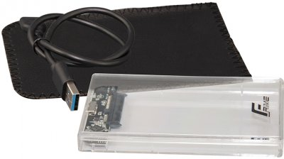 "Внешний карман Frime для 2.5"" SATA HDD/SSD Plastic USB 3.0 Clear (FHE80.25U30)"