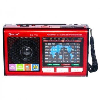 Радіоприймач Golon RX-7711 радіо FM, AM, SW, USB з ліхтарем
