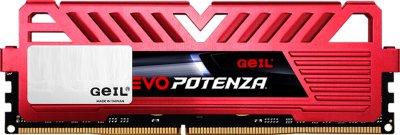 Оперативна пам'ять GeIL DDR4-3200 16384 MB PC4-25600 Evo Potenza Red (GPR416GB3200C16BSC)