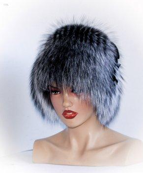 Хутряна шапка з Чорнобурки VECONS Кубанка One size сіра