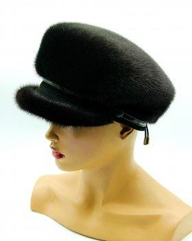 Женская норковая фуражка VECONS One size черная