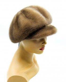 """Женская кепка из норки VECONS """"10-ь клинов ребром"""" One size коричневый"""