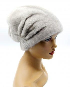 """Норкова жіноча шапка VECONS """"Козачек з довязом"""" One size сапфір"""