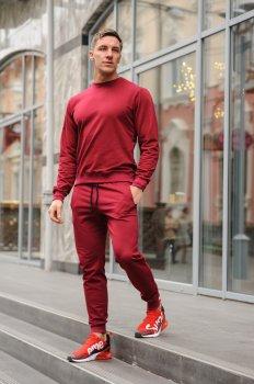 Спортивный костюм мужской свитшот и штаны WB размер (WB Shop) бордовый