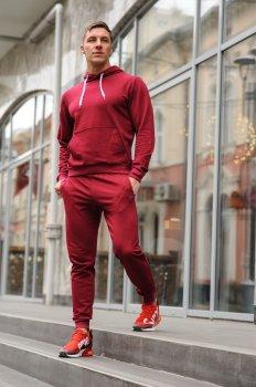 Спортивный костюм мужской WB худи и штаны размер (WB Shop) бордовый