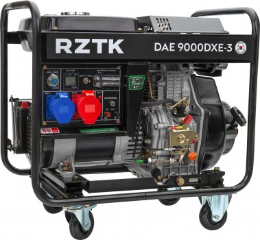 Генератор дизельный RZTK DAE 9000DXE-3