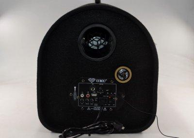 Активный сабвуфер колонка автосабвуфер UKC M-1008BT с функцией Bluetooth 1800 Вт с ручкой Черная (11616)
