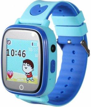 Детские телефон-часы с GPS трекером GOGPS ME К14 Blue (K14BL)